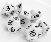 White & Black Classic RPG Dice Set